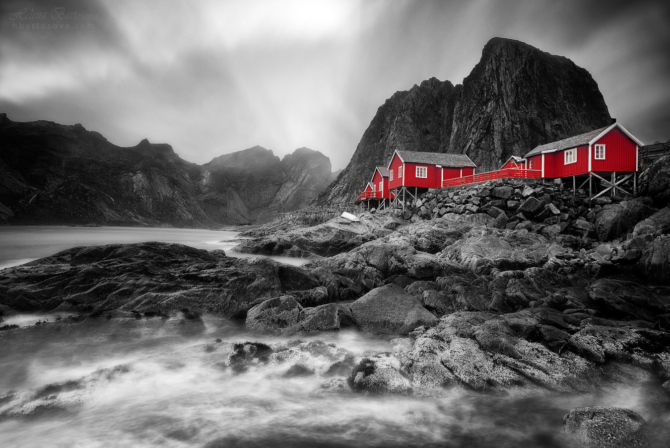 MONOCHROME AND RED (Hamnøya, Norway)
